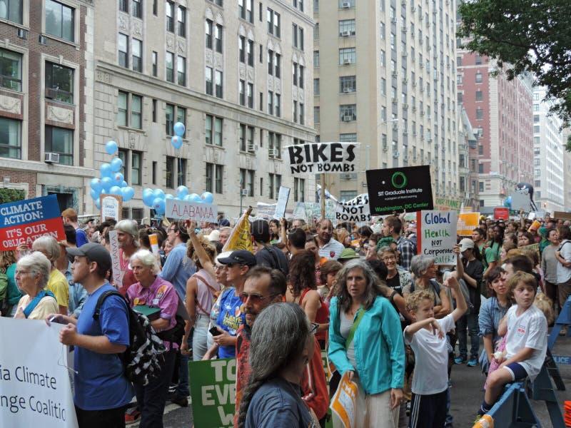 Van het Klimaatmaart New York van mensen de Stad 2014 royalty-vrije stock foto