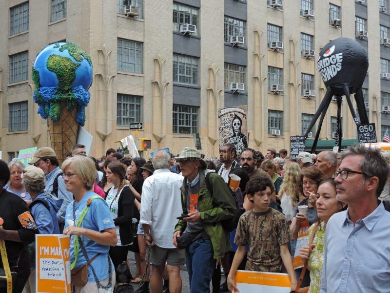Van het Klimaatmaart New York van mensen de Stad 2014 stock foto
