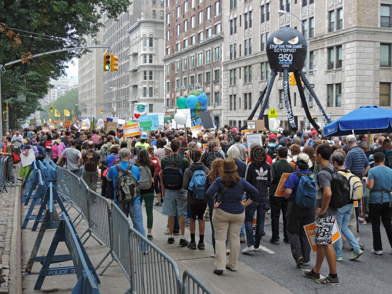 Van het Klimaatmaart New York van mensen de Stad 2014 royalty-vrije stock fotografie