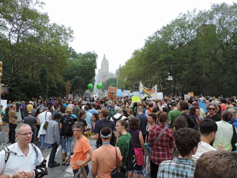 Van het Klimaatmaart New York van mensen de Stad 2014 stock afbeeldingen