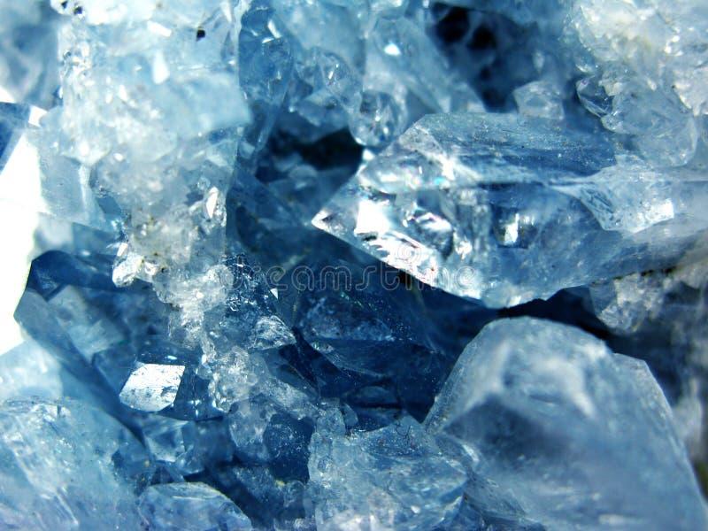 Van het het kristalkwarts van de aquamarijngem de minerale geologische achtergrond stock fotografie