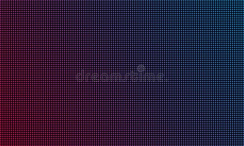 Van het LEIDENE video de textuurachtergrond muurscherm Het vector blauwe en rode purpere kleuren lichte LEIDENE diode videoscherm royalty-vrije illustratie