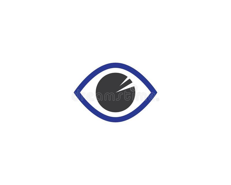 Van het het malplaatje vectorpictogram van het oogembleem de illustratieontwerp royalty-vrije illustratie