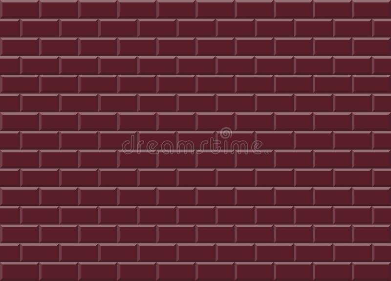 Van het mozaïektegels van Bourgondië rode ceramische de textuurachtergrond royalty-vrije illustratie