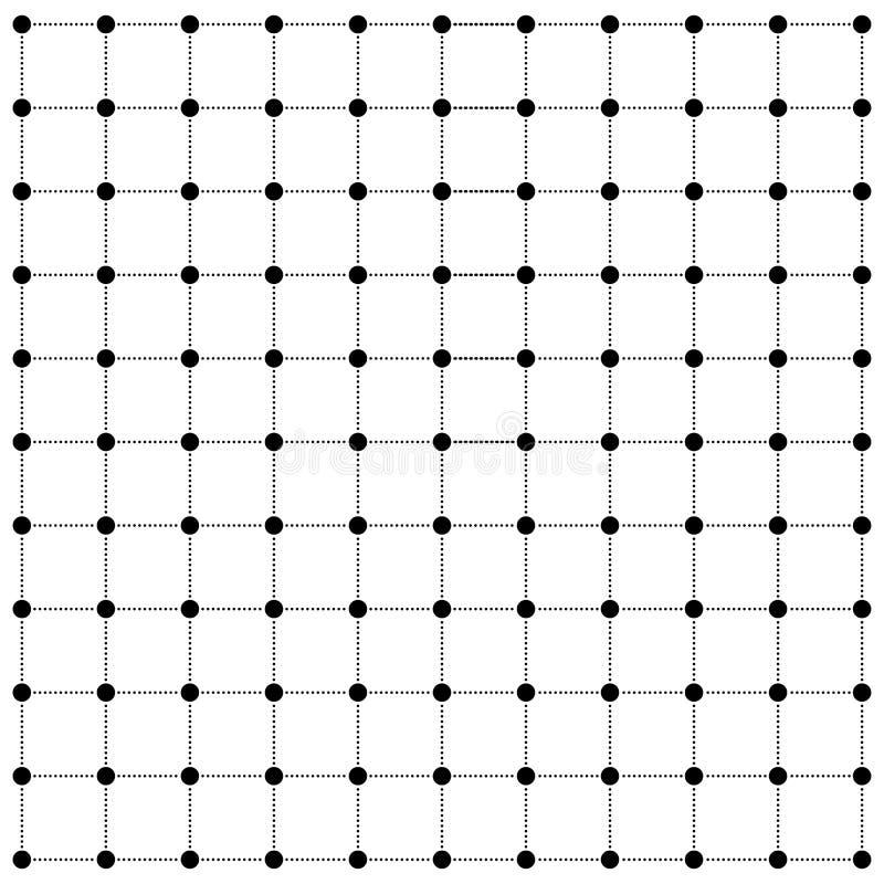 Van het het net de vectorontwerp van de puntlijn moderne achtergrond stock illustratie