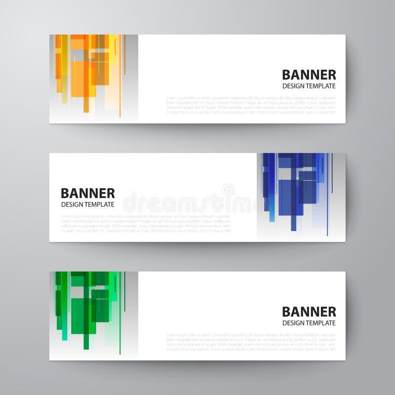 Van het het ontwerpmalplaatje van het bannersweb de abstracte vectorachtergrond vector illustratie