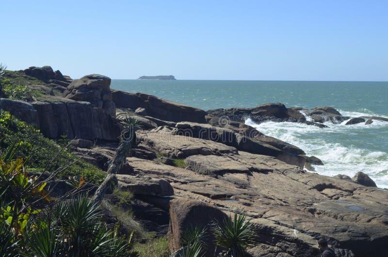van het overzeese †‹â€ ‹hemel van het het waterlandschap kuststrand de oceaan stock afbeelding