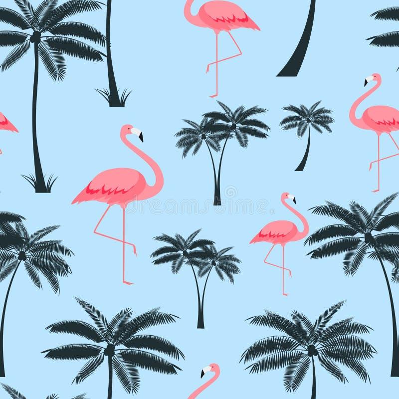 Van het palmblad Naadloze Patroon Illustratie Als achtergrond stock foto