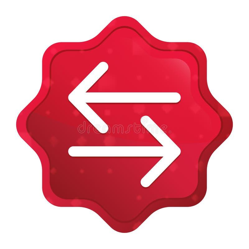 Van het pictogram nevelige rozerode starburst van de overdrachtpijl de stickerknoop vector illustratie