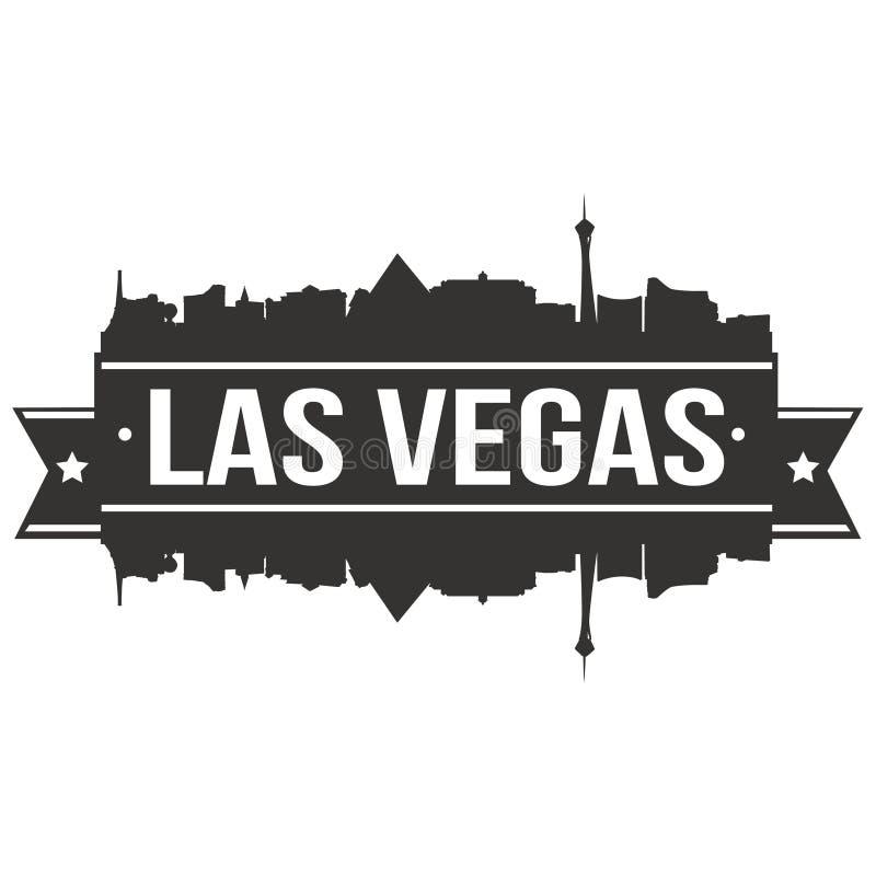 Van het Pictogram het Vectorart design skyline flat city van Las Vegas Nevada United States Of America de V.S. Malplaatje van het royalty-vrije illustratie