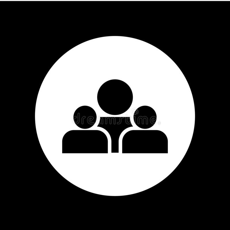 Van het het Pictogram Vectormalplaatje van groepsmensen het Ontwerpillustratie stock illustratie