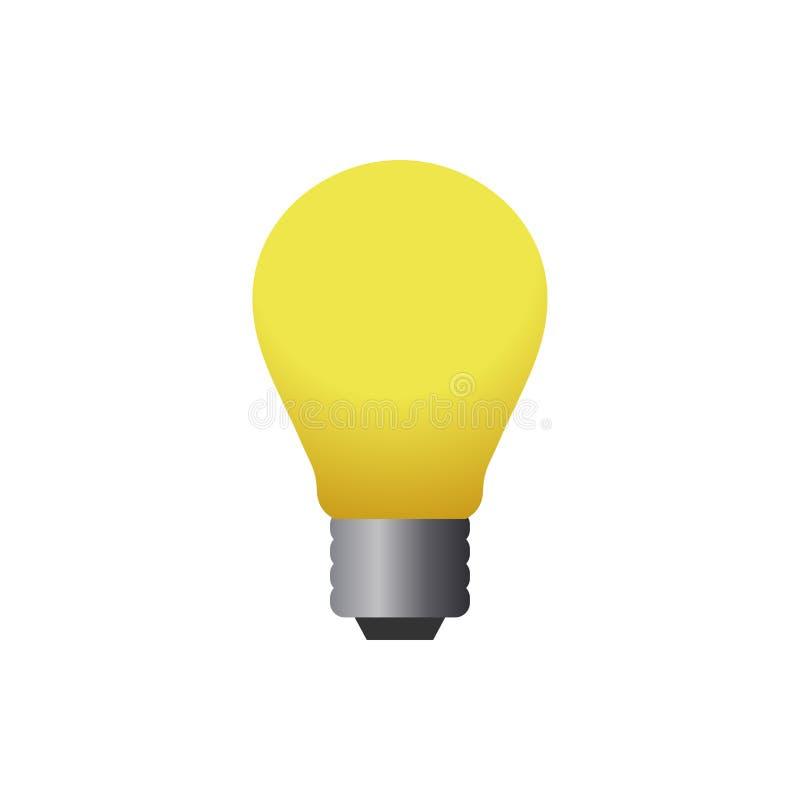 Van het het pictogramontwerp van het lampembleem het malplaatje vectorillustratie royalty-vrije illustratie