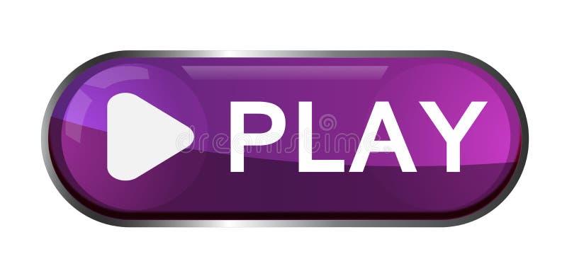 Van het het pictogramteken van de spelknoop het elementenembleem in purple op witte achtergrond wordt gekleurd die royalty-vrije illustratie
