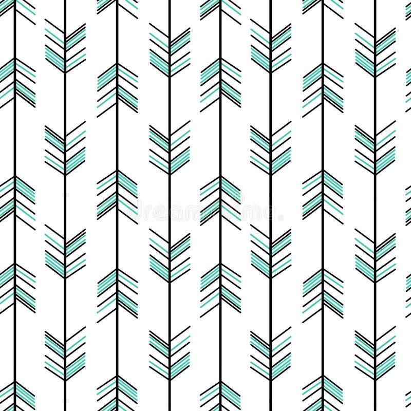 Van het pijl naadloze patroon hipster illustratie als achtergrond vector illustratie