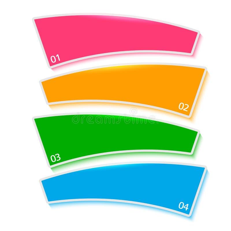 Van het processtappen van het menumalplaatje het vaste rapport stock afbeelding