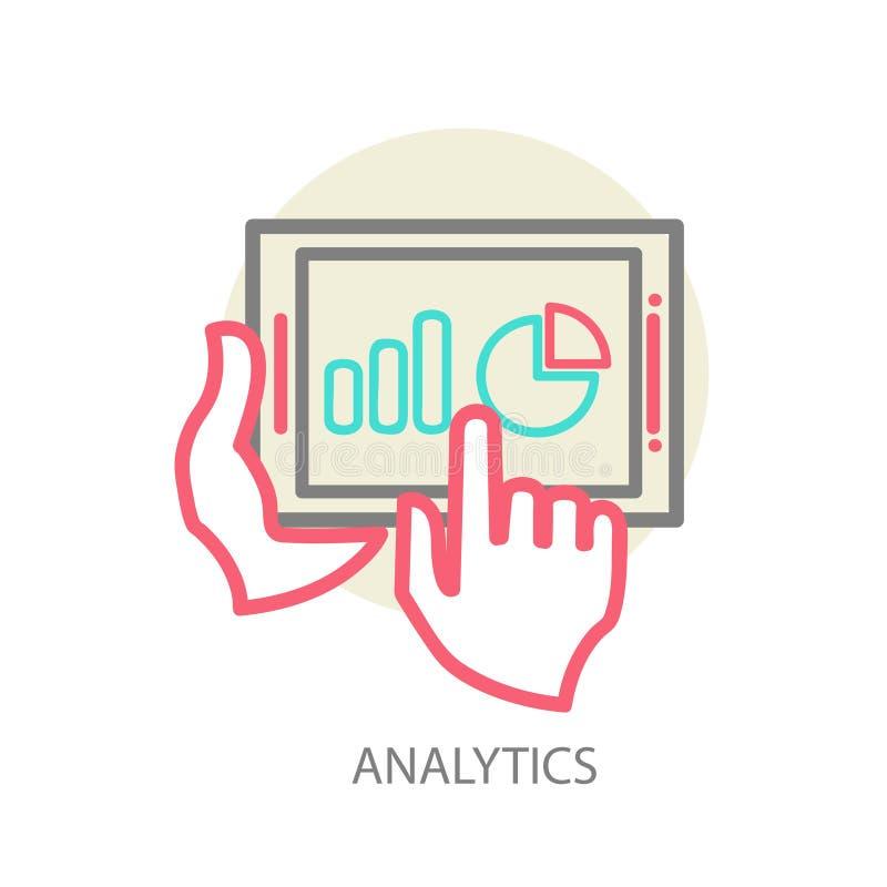 Van het programmeringsproces en Web analyticselementen royalty-vrije illustratie