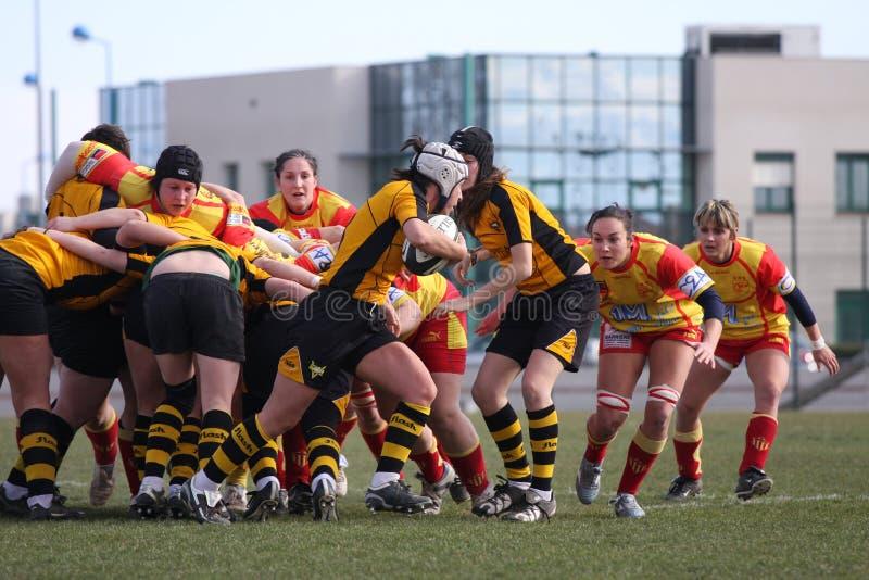 Van het rugby de gelijke USAT (Frankrijk) v GETXO (Spai royalty-vrije stock afbeeldingen