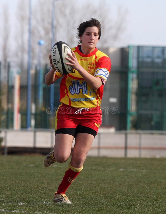 Van het rugby de gelijke USAT (Frankrijk) v GETXO (Spai stock foto's