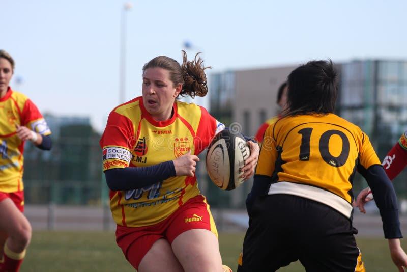 Van het rugby de gelijke USAT (Frankrijk) v GETXO (Spai stock foto