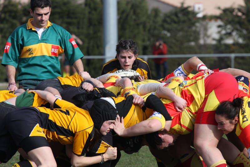 Van het rugby de gelijke USAT (Frankrijk) v GETXO (Spai stock afbeelding
