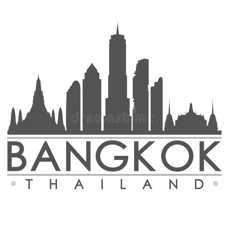 Van het het Silhouetontwerp van Bangkok de Stads Vectorart.