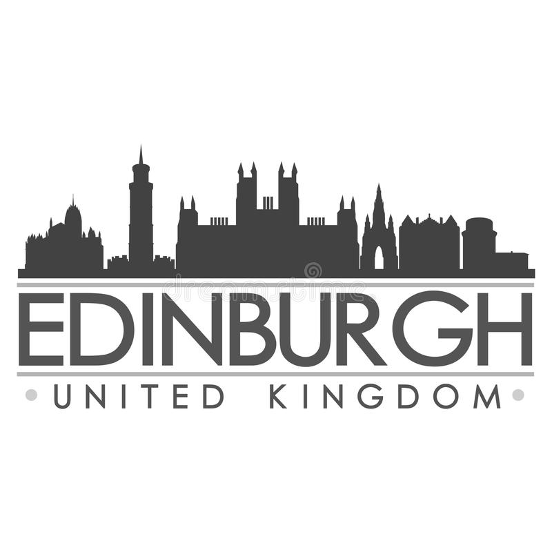 Van het het Silhouetontwerp van Edinburgh de Stads Vectorart. stock illustratie