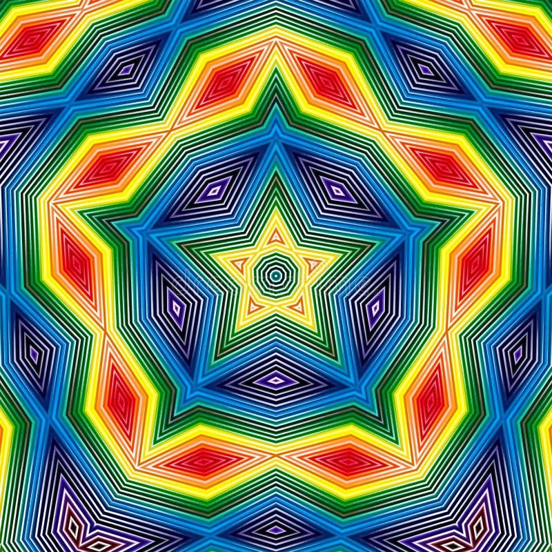 Van het sterpatroon geometrische samenvatting als achtergrond moza?ek stock illustratie