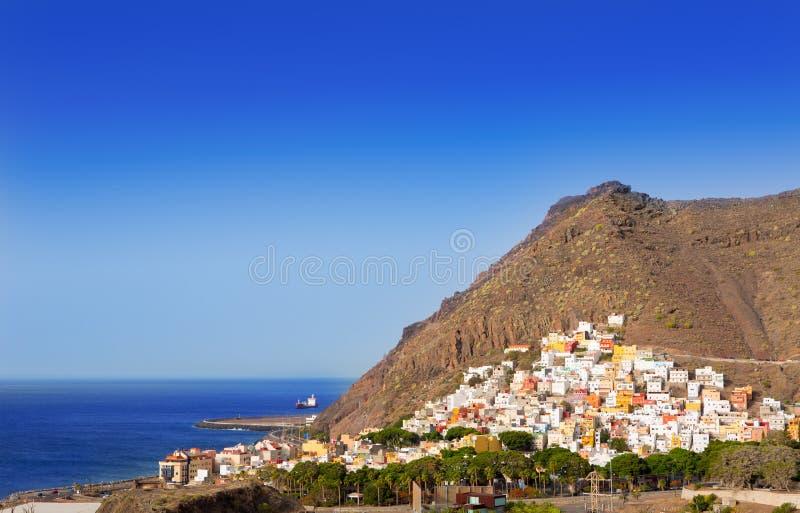 Van het strandlas Teresitas van San Andres de Kerstman cruz DE Tenerife stock fotografie