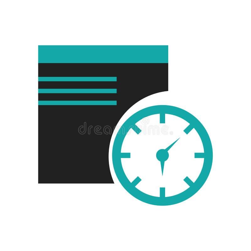 Van het het symboolpictogram van de venstertijd het het vectordieteken en symbool op witte achtergrond, het concept van het het s vector illustratie