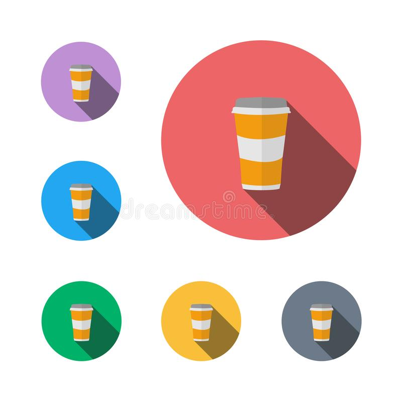 Van het het tekenpictogram van de drankkoffie het symbool vlak grafisch symbool stock afbeeldingen