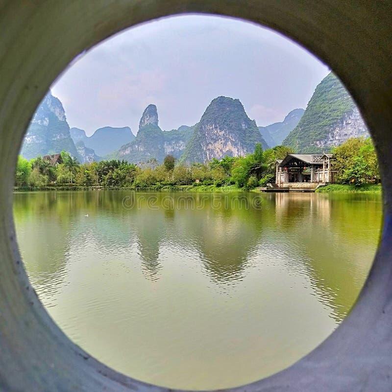 Van het Toerismeexcursies van China Guangxi Beihai Landschap van het de Lentelandschap het Landelijke Groene om Meerwind stock afbeelding