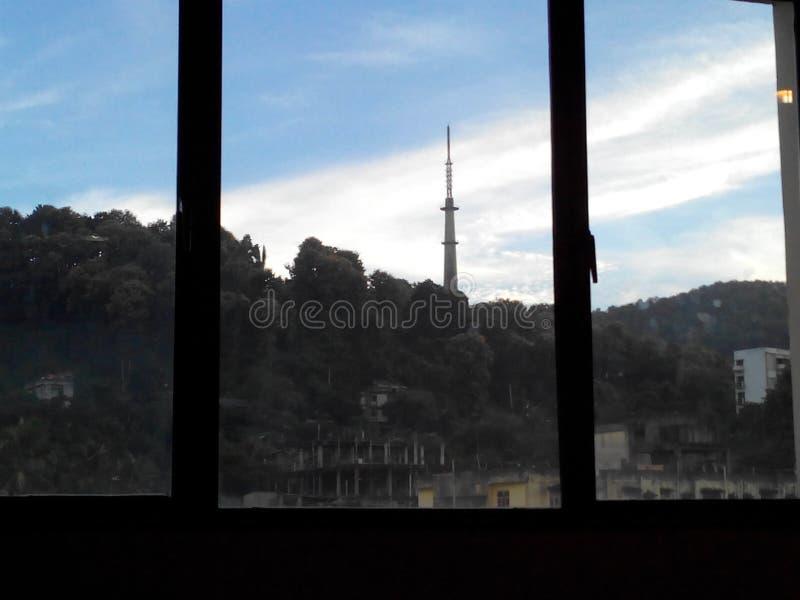 Van het venster stock afbeeldingen