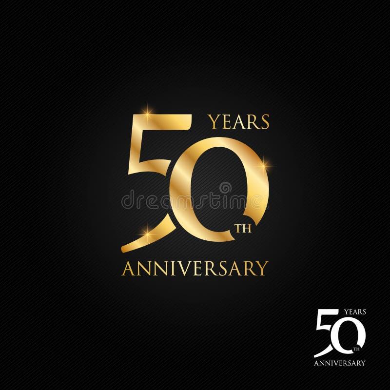 50 van het verjaardagsjaar embleem, pictogram en symbool vectorillustratie royalty-vrije illustratie