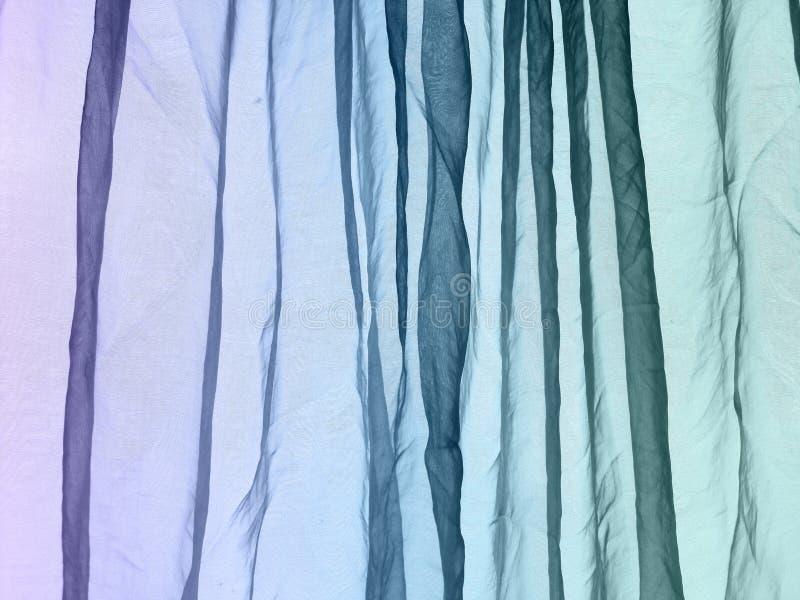 Van het voilegordijn purpere blauwgroen als achtergrond stock afbeeldingen