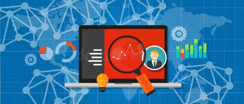 Van het Webanalytics van het websiteverkeer de optimalisering van de de prestatiesmaatregel royalty-vrije illustratie