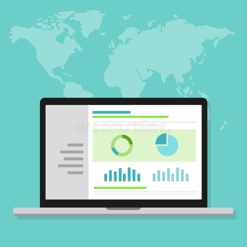 Van het Webanalytics van het websiteverkeer de optimalisering van de de prestatiesmaatregel stock illustratie