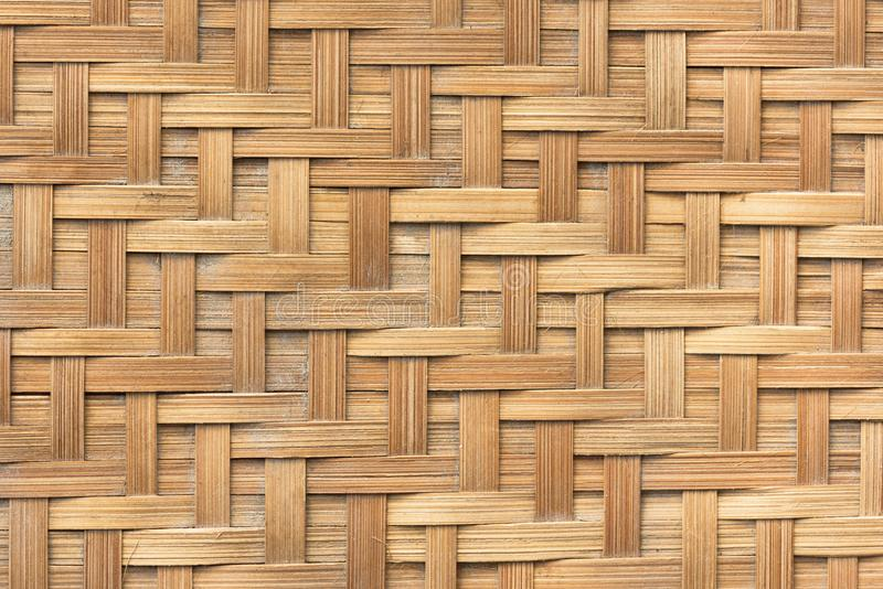 Van het het weefselpatroon van de bamboemand de textuurachtergrond Achtergrond en royalty-vrije stock afbeeldingen