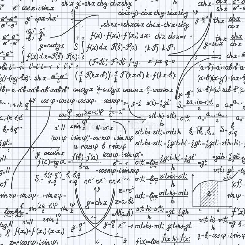 Van het wiskunde vector naadloos patroon notitieboekje als achtergrond vector illustratie