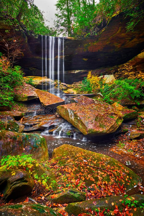 Van Hook Falls, Daniel Boone National Forest, KY stock fotografie
