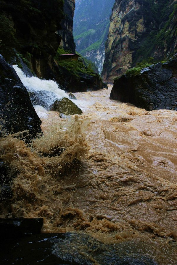 Van HU Tiao (Tijger die springt) de Kloof stock afbeeldingen