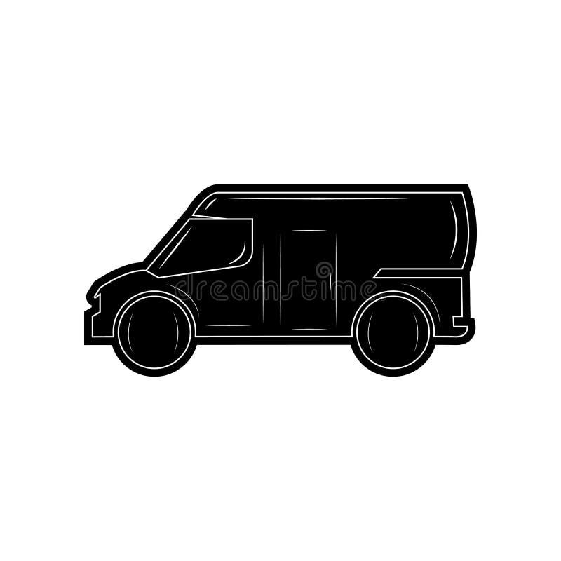 Van Icon Element von Autos f?r bewegliches Konzept und Netz Appsikone Glyph, flache Ikone f?r Websiteentwurf und Entwicklung, App lizenzfreie abbildung