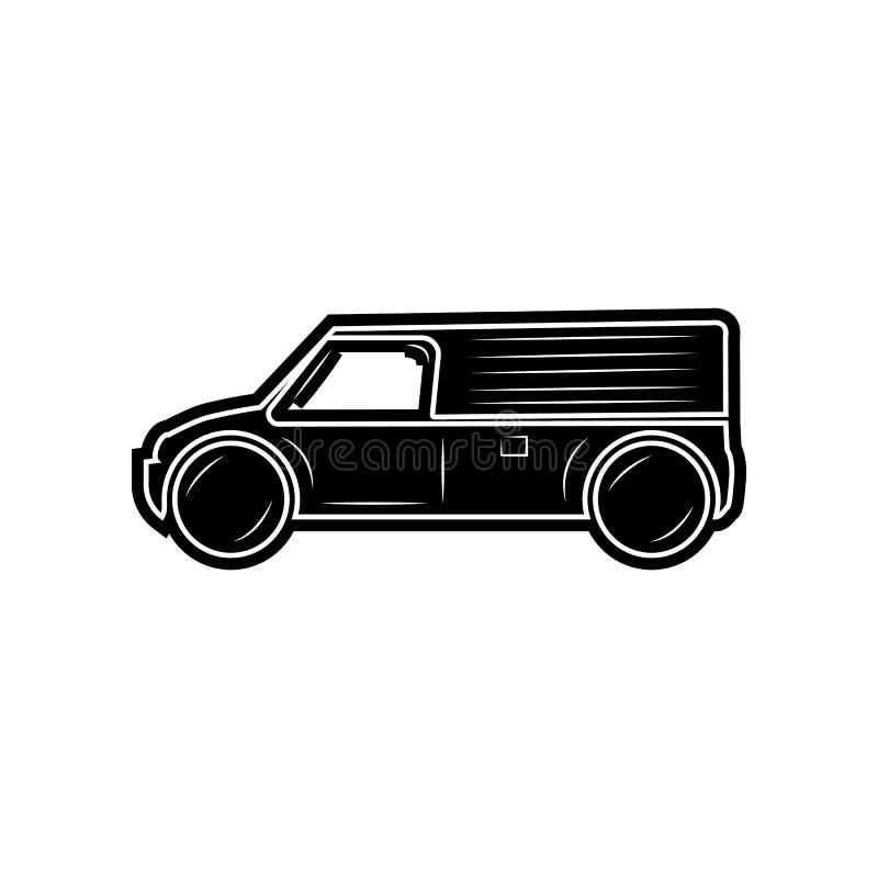 Van Icon Element von Autos f?r bewegliches Konzept und Netz Appsikone Glyph, flache Ikone f?r Websiteentwurf und Entwicklung, App vektor abbildung