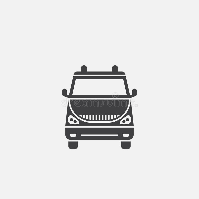 Van icon vector isolated on grey background. vector illustration