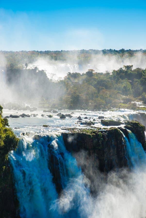 Van Iguazudalingen of Duivels Keel royalty-vrije stock fotografie