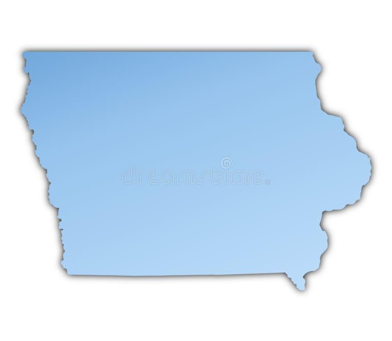 Van Iowa (de V.S.) de kaart royalty-vrije illustratie
