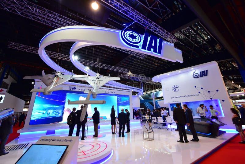 Van Israel Aerospace Industries (IAI) de cabine in Singapore Airshow stock afbeelding