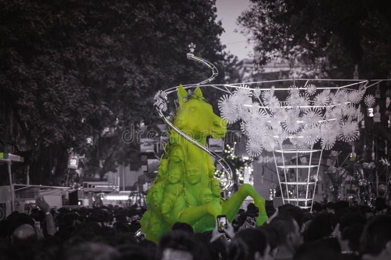 Van kalaghoda van de Sreetfotografie de kunstfestival royalty-vrije stock afbeeldingen