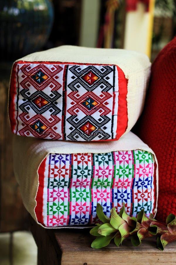 Van katoenen MAI Thailand hoofdkussen textielchiang royalty-vrije stock afbeelding