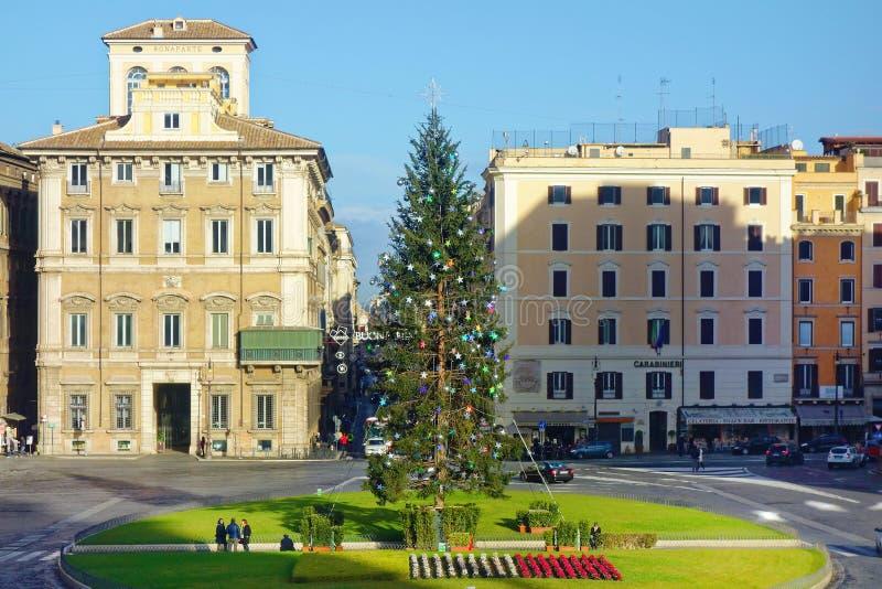 Van Kerstmiskerstmis van Venetië de vierkante tijd Rome stock afbeelding