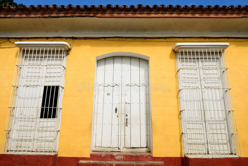 Van koloniale overblijfselen voor Spaanse gebouwen op Cuba in de stad van Trinidad royalty-vrije stock afbeelding